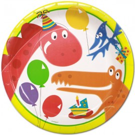 8 assiettes en carton dinosaure collection Dino Party