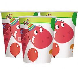 8 gobelets en carton Dino Party