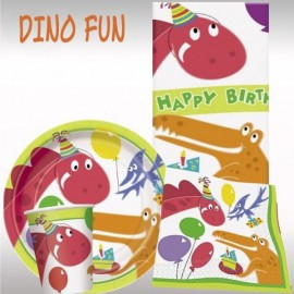 Pack anniversaire Dino Party pour 8