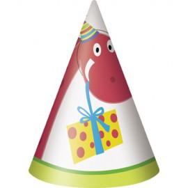 8 chapeaux de fête et anniversaire enfant Dino Party