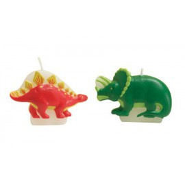 4 bougies dinosaures Dino Party