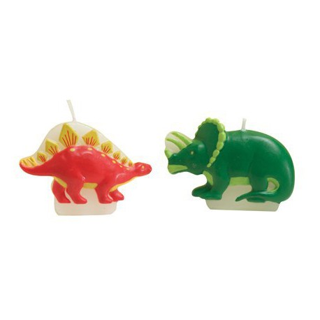 4 bougies dinosaures Dino Party