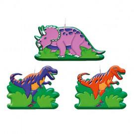6 bougies d'anniversaire Prehistoric Party