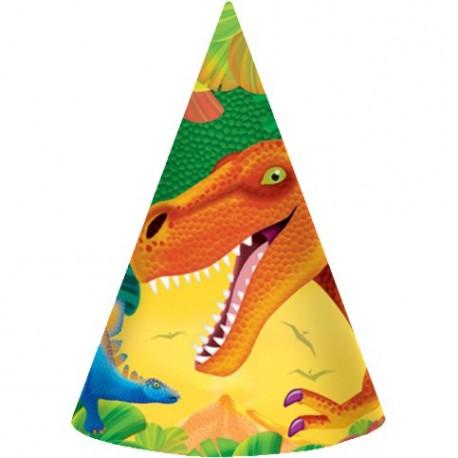 8 Chapeaux de fêtes Prehistoric Party