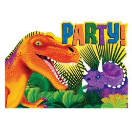 8 cartons d'invitations Prehistoric Party