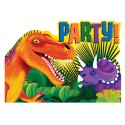 8 cartons d'invitations Prehistoric Party