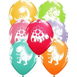 6 ballons d'anniversaire Dino Party