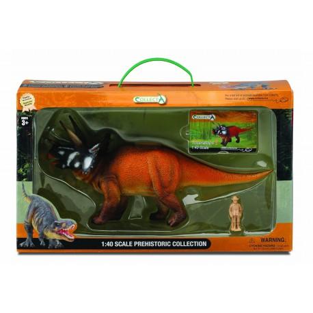 Coffret Figurine Triceratops DINOSAURE