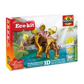 ECOKIT Construction dinosaure 3D Stégosaurus