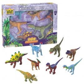 Coffret figurines dinosaures articulées