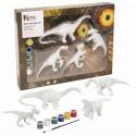 Kit de peinture dinosaure - Coffret de 4 dinosaures à peindre