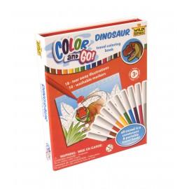 Kit de coloriage dinosaure Color and Go Dinosaur - Wild Republic