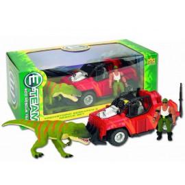 Camion et figurine de dinosaure - Prehistoric Research and Rescue Set