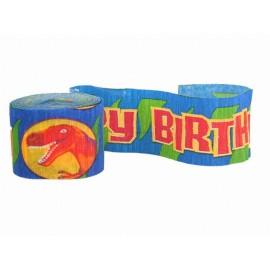 Guirlande d'anniversaire en crêpe Prehistoric Party