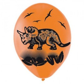 6 ballons d'anniversaire dinosaure Prehistoric Party
