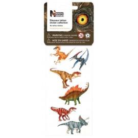 6 tatouages dinosaures Wild Republic