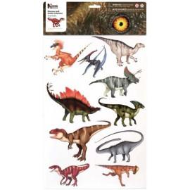 10 stickers dinosaures Wild Republic - Idéal décoration chambre d'enfant