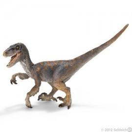 Figurine dinosaure velociraptor avec mâchoire articulée