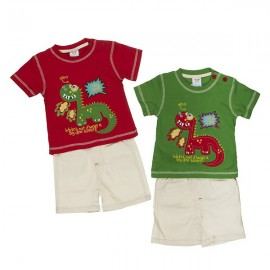Ensemble tee-shirt et short dinosaure