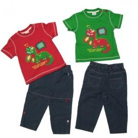 Ensemble pantalon et tee-shirt dinosaure
