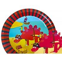 8 Assiettes en cartons dinosaure spécial anniversaire dinosaure