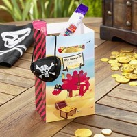 5 sacs à bonbons dinosaure pirate