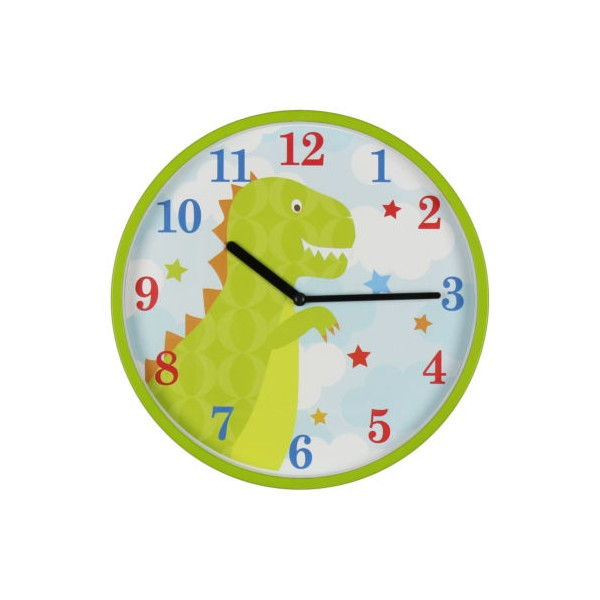 horloge murale dinosaure. Black Bedroom Furniture Sets. Home Design Ideas