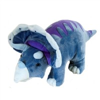 Grande peluche dinosaure Tricératops Collection Dinomites