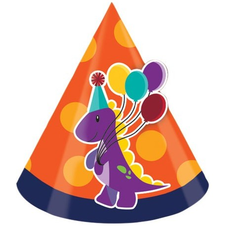 Chapeaux de fête anniversaire dinosaure