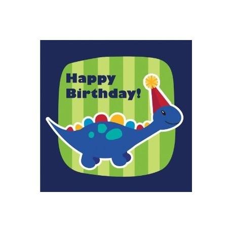 Serviettes en papier dinosaure - spécial anniversaire