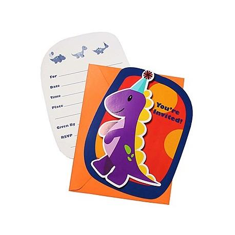 Cartons d'invitation spécial anniversaire dinosaure