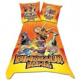 Dinosaure King : housse de couette + taie d'oreiller