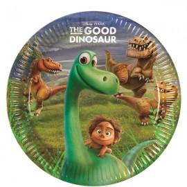 8 assiettes en carton dinosaure Thème Le Voyage d'Arlo