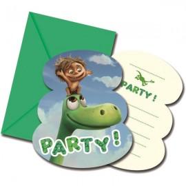 Carton d'invitation anniversaire Thème Le Voyage d'Arlo