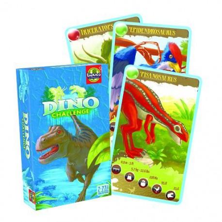 Jeu de cartes Dino Challenge Bleu