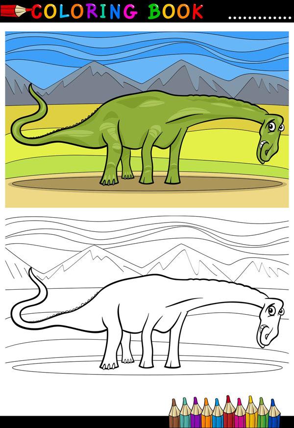 Coloriage gratuit dino shop - Modele dessin dinosaure ...