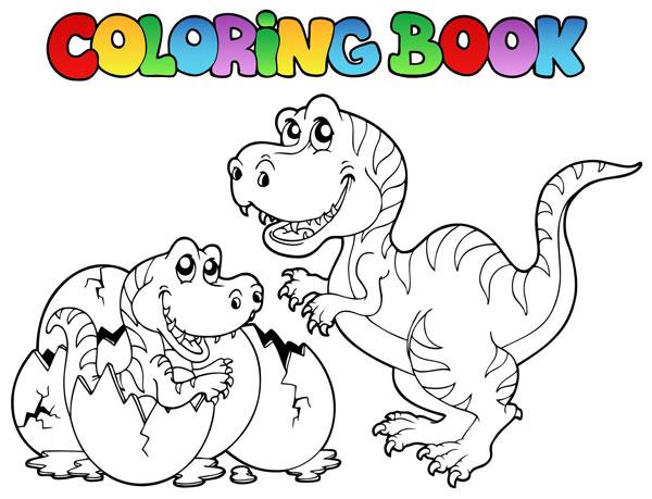 Coloriage gratuit dinosaure